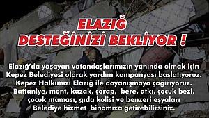 Çanakkale Kepez'den Elazığ'a yardım eli