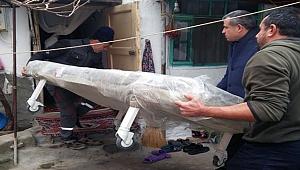 Karabiga'da belediyeden hasta yatağı yardımı