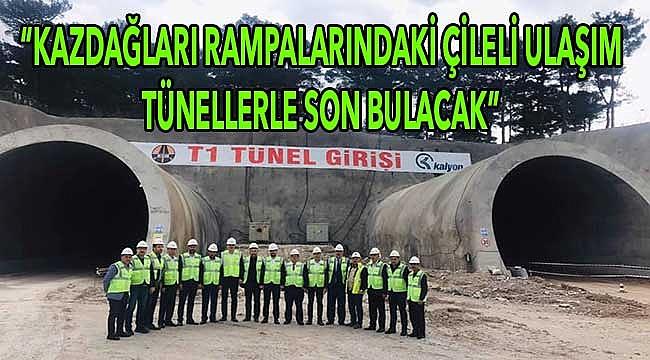 24 kilometrelik rampalar, tünellerle 5 dakikada geçilecek!