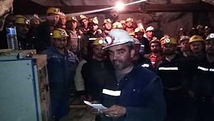 40 işçi kendini maden ocağına kapattı!