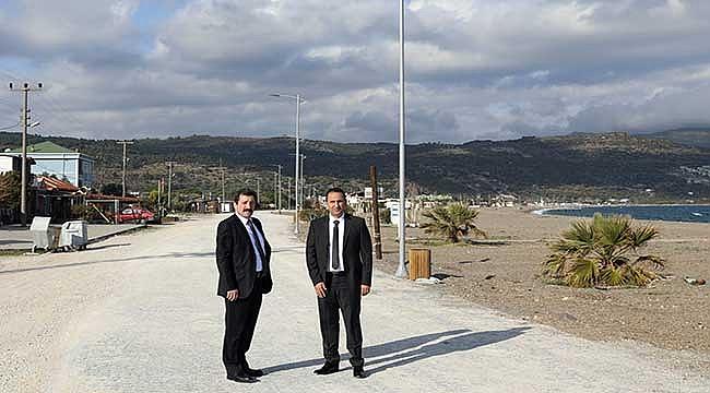 Assos Kadırga Koyu'nda altyapı ve çevre düzenlemesi