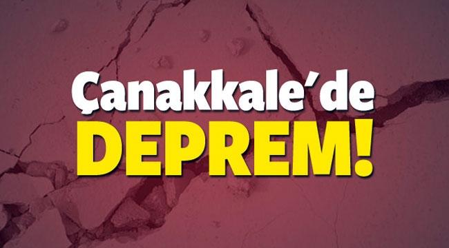 Çanakkale'de tedirgin eden deprem!