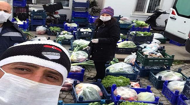 Bozcaada'da 180 hanenin pazar ihtiyaçları karşılandı