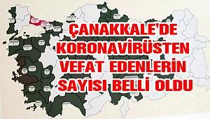 Çanakkale'de koronavirüsten vefat edenlerin sayısı belli oldu!