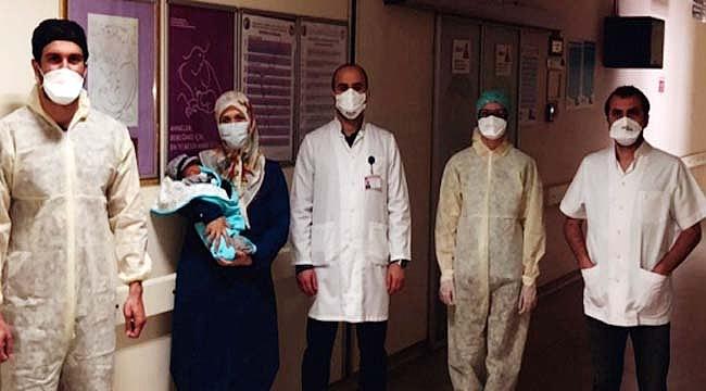 Çanakkale'de corona virüsü taşıyan anne doğum yaptı