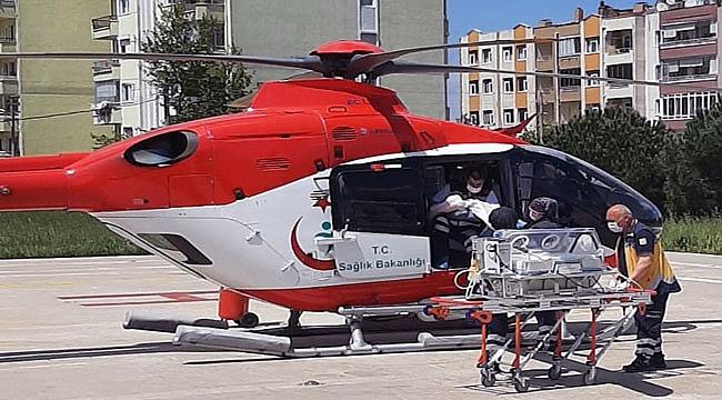 Çanakkale'de helikopter ambulans 5 ayda 94 hasta taşıdı