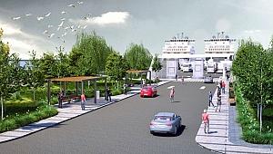 Gelibolu yeni feribot terminalinde deniz taş dolgusuna başlanıyor