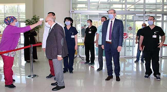 ÇOMÜ Hastanesi yeni normalleşme sürecine hazır