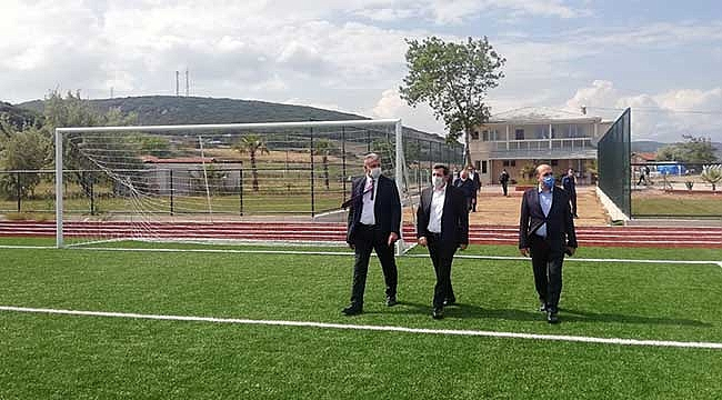 Karabiga futbol sahası artık FIFA standartlarına uygun