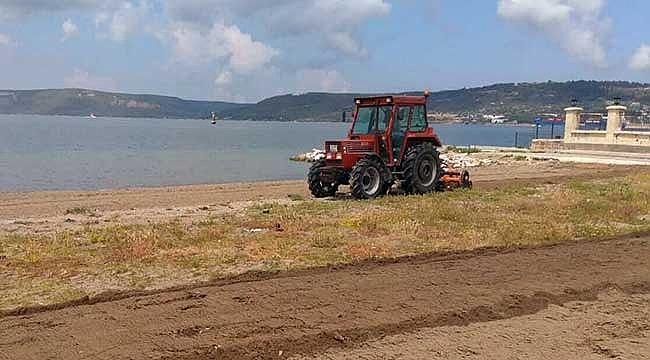 Kent merkezindeki plajlarda temizlik