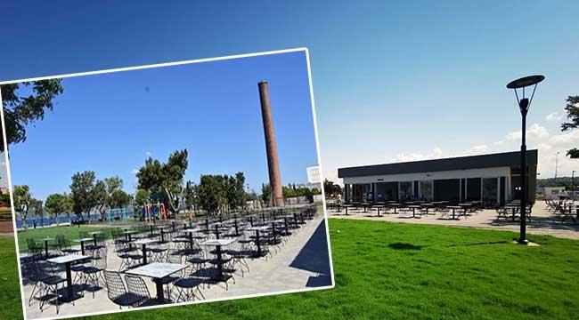 Eski Tekel Fabrikasının bulunduğu alanda kafe yapımı tamamlandı