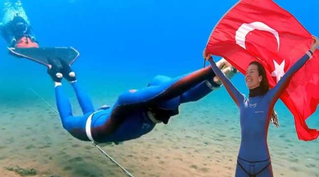Su altında tek nefeste 165 metre