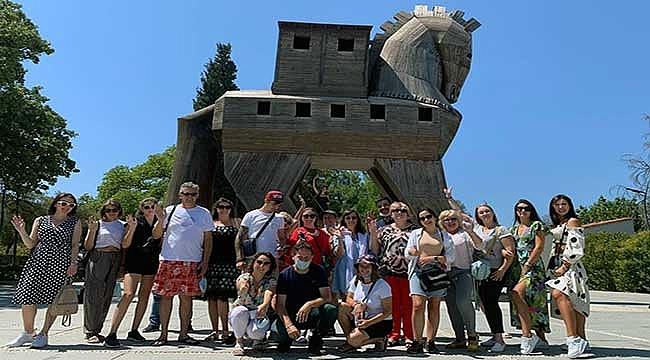 Ukraynalı turizmciler bölgeye hayran kaldı