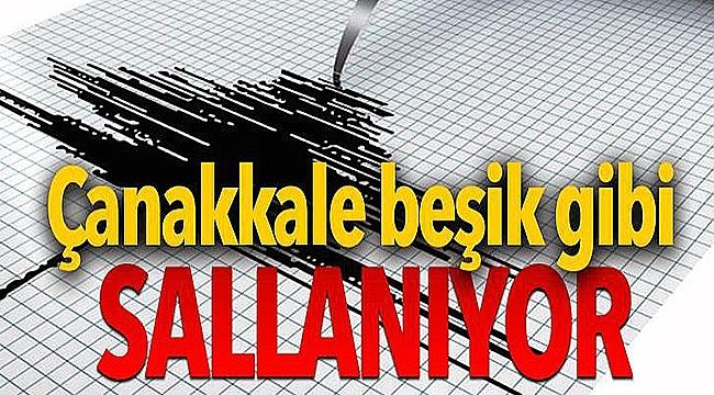 Çanakkale'de art arda depremler!