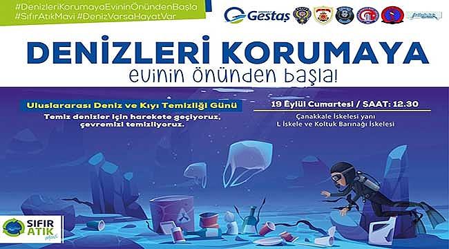 Çanakkale'de deniz ve kıyı temizliği yapılacak