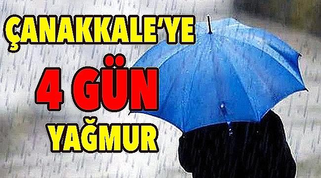 Çanakkale'ye 4 gün daha yağmur!