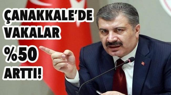 Sağlık Bakanı Çanakkale'yi uyardı!