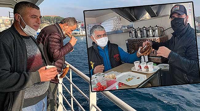 Gestaş'tan şoförlere çay simit ikramı