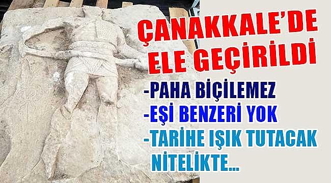Çanakkale'de gladyatör steli ele geçirildi!
