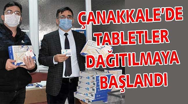 Çanakkale'de tabletler dağıtılıyor!
