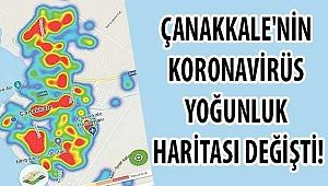 Çanakkale'nin koronavirüs yoğunluk haritası değişti!