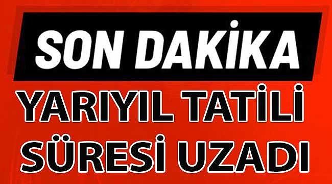 Milli Eğitim Bakanlığı'ndan 'yarıyıl tatili' açıklaması!
