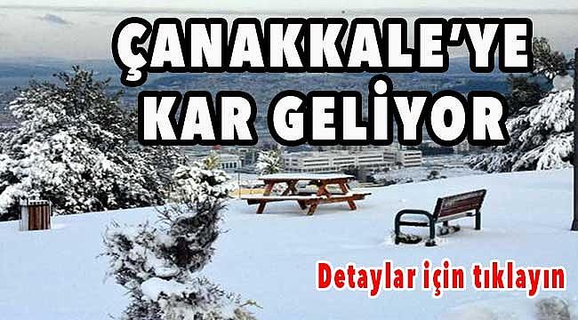 Çanakkale'de kar bekleniyor!