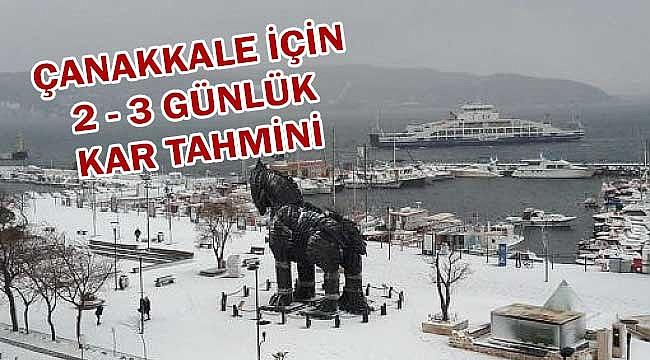 Çanakkale'ye 2/3 gün kar!