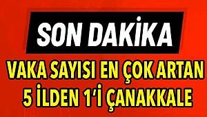 Vaka sayısı en çok artan 5 ilden 1'i Çanakkale!