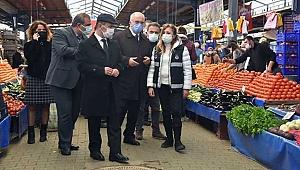 Vali Aktaş ile Başkan Gökhan'dan pazarda denetim!