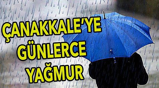 Çanakkale'de yağmurlar etkili olacak!