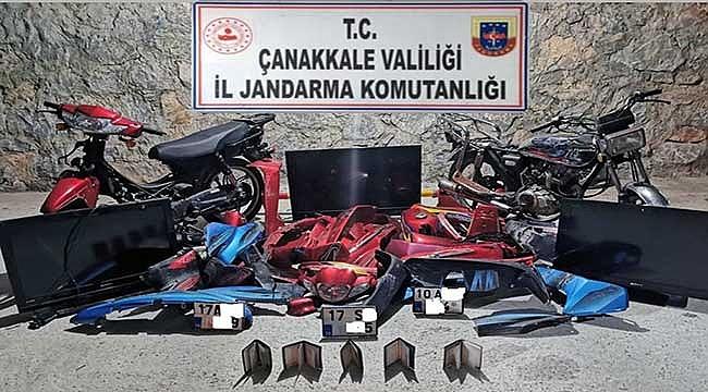 Çanakkale'de motosiklet hırsızları yakalandı!
