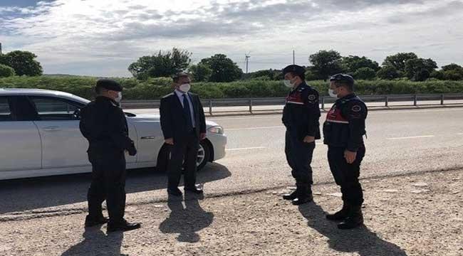 Ayvacık Jandarma Kontrol Noktasında Denetleme