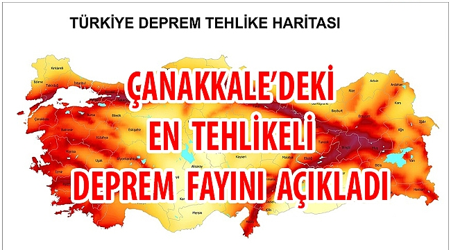 Çanakkale'deki en tehlikeli deprem fayını açıkladı!