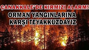 Çanakkale orman yangınlarına karşı teyakkuzda!