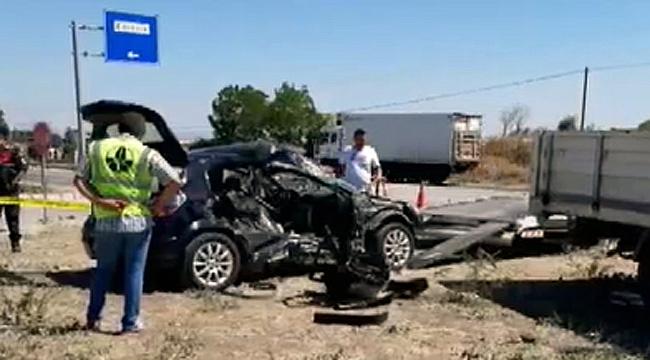 Feci kaza 2 ölü, 4 yaralı