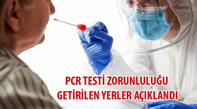 PCR Testi Zorunluluğu Genelgesi Yayınlandı