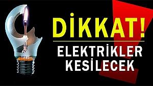 Çanakkale'de elektrik kesintileri olacak!