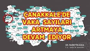 Çanakkale'de vaka artışı hız kesmiyor!