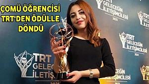 ÇOMÜ Öğrencisine TRT'den Ödül