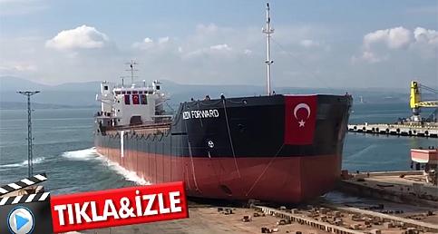 Gelibolu Tersanesinde kuru yük gemisi denize indirildi
