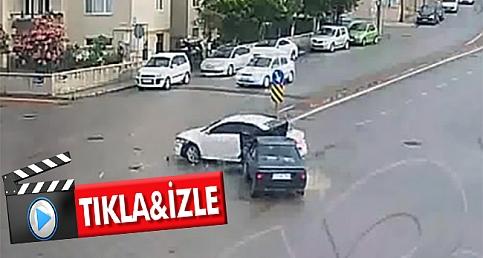 Çanakkale'deki kazalar MOBESE kameralarında