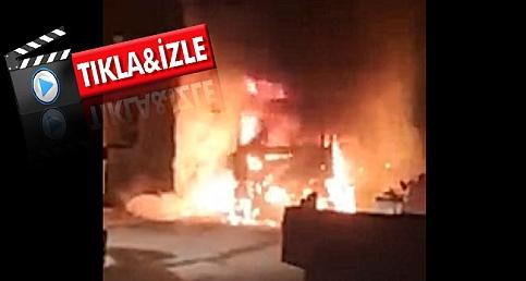 Çanakkale'de TIR alev alev yandı!