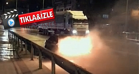 Çanakkale'de otomobil alev alev yandı!